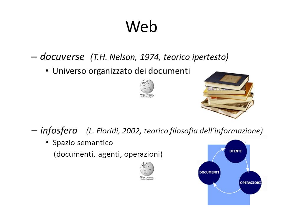 Web Hubs and Authorities (HITS algorithm) - 1998 Kleinberg identifica due due tipi di pagine web: authority: pagine che rappresentano autorevoli sorgenti di informazione per la query hub: liste che contengono puntatori a pagine relative allargomento della query Good hubs point to good authorities and vice versa Google nel 1998 progetta PageRank (brevettato nel 2001 US PTO Patent )US PTO Patent
