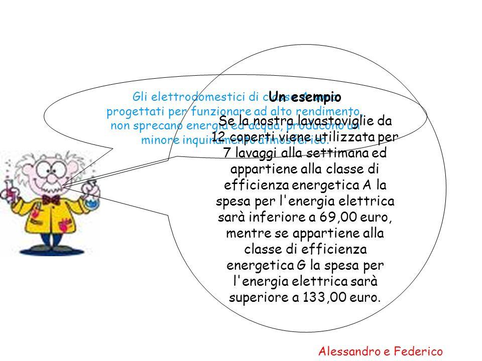 Gli elettrodomestici di classe A sono progettati per funzionare ad alto rendimento, non sprecano energia ed acqua, producono un minore inquinamento at