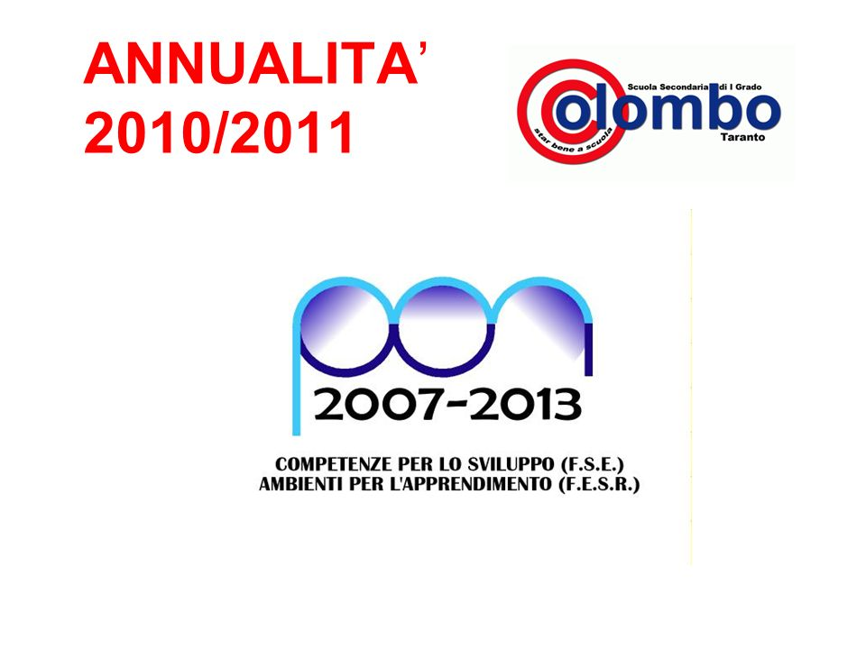 ANNUALITA 2010/2011