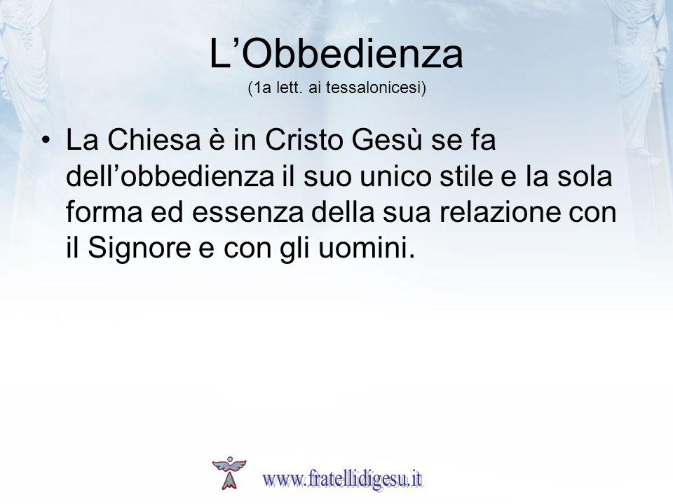 LObbedienza (1a lett.