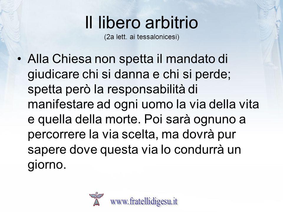 Il libero arbitrio (2a lett.