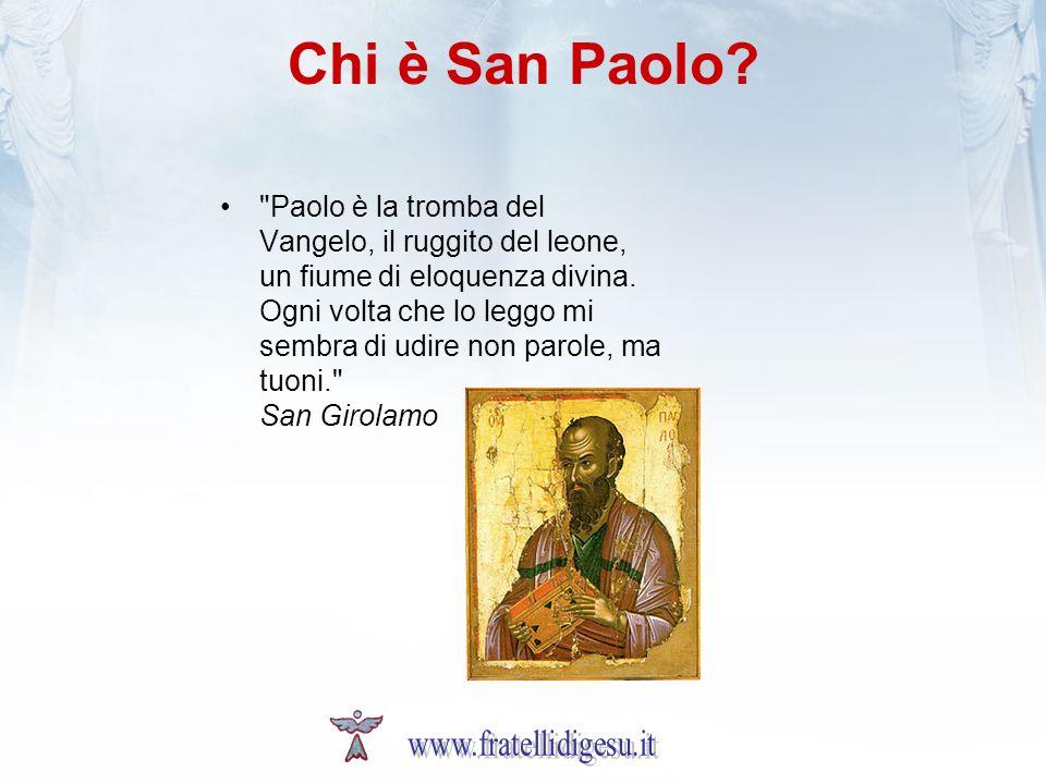 «Sono giudeo, nato a Tarso in Cilicia, cittadino di una città che non è senza fama» (At 21, 29; cf At 22, 3) quando: Agli inizi dellera cristiana, tra il 5 e il 10 d.