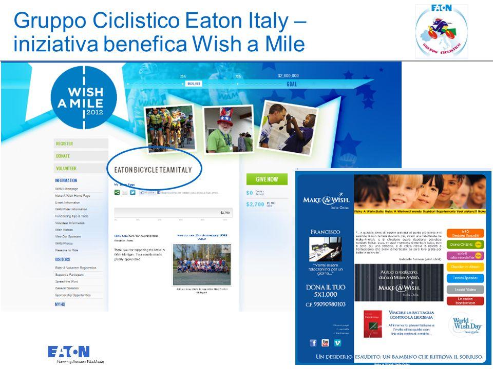 3 3 Gruppo Ciclistico Eaton Italy – iniziativa benefica Wish a Mile