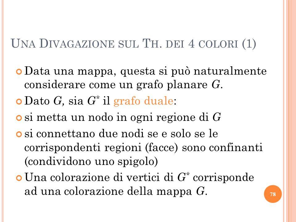 Data una mappa, questa si può naturalmente considerare come un grafo planare G. Dato G, sia G * il grafo duale: si metta un nodo in ogni regione di G