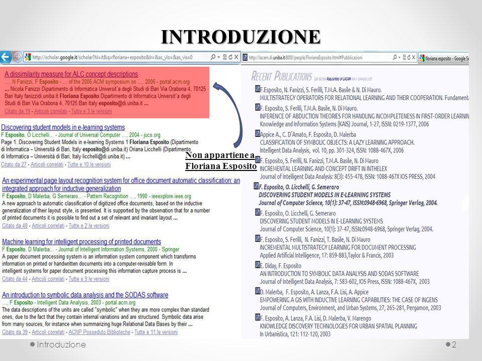 INTRODUZIONE Introduzione2 Non appartiene a Floriana Esposito