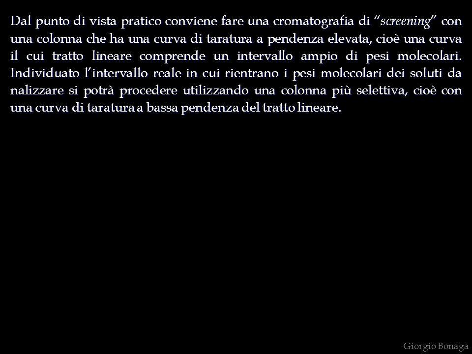 Giorgio Bonaga Dal punto di vista pratico conviene fare una cromatografia di screening con una colonna che ha una curva di taratura a pendenza elevata