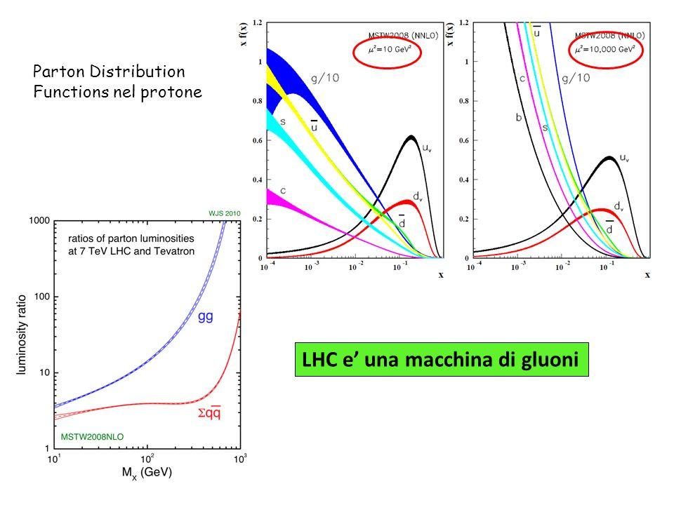 LHC e una macchina di gluoni Parton Distribution Functions nel protone