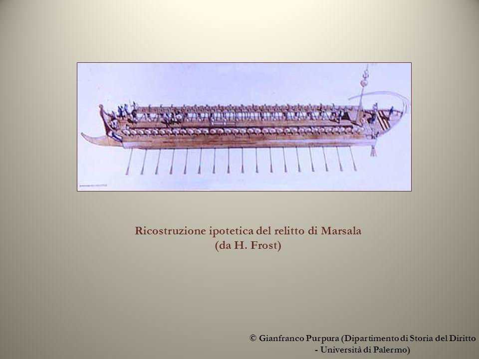 Ricostruzione ipotetica del relitto di Marsala (da H.