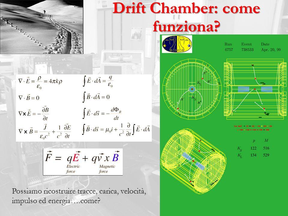 Drift Chamber: come funziona? Possiamo ricostruire tracce, carica, velocità, impulso ed energia….come?