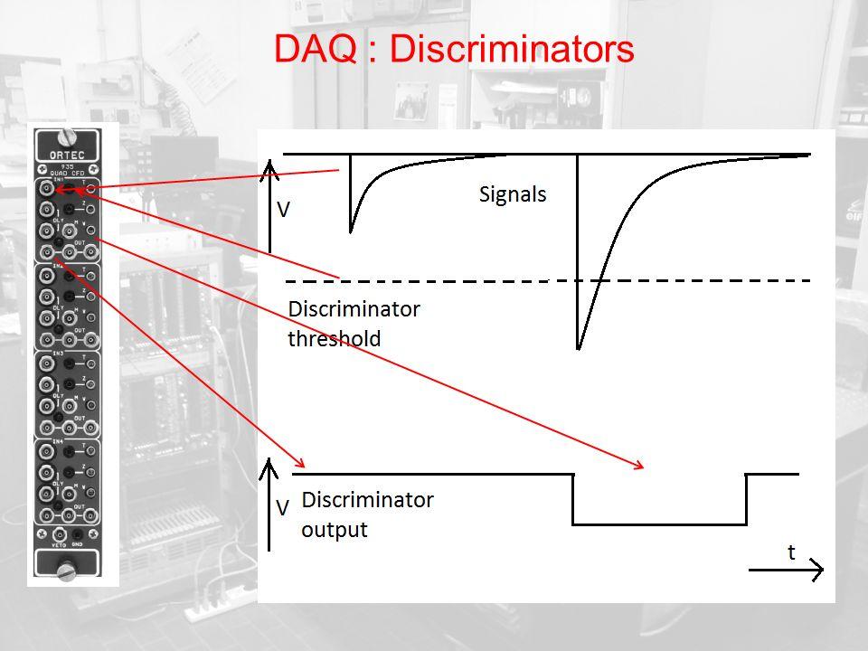 DAQ : Discriminators