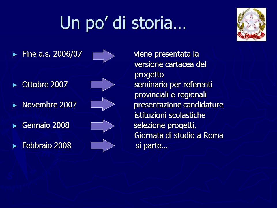 Fine a.s. 2006/07 viene presentata la Fine a.s. 2006/07 viene presentata la versione cartacea del versione cartacea del progetto progetto Ottobre 2007