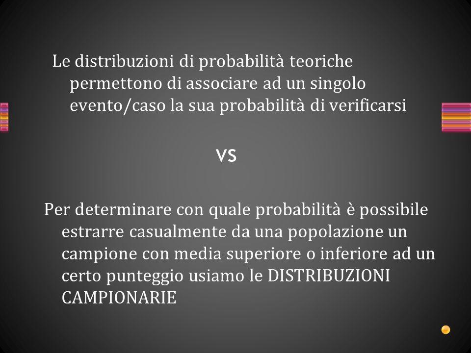 È una distribuzione di probabilità relativa ad una STATISTICA specifica che viene calcolata su tutti i possibili campioni di ampiezza n estraibili dalla popolazione di interesse.