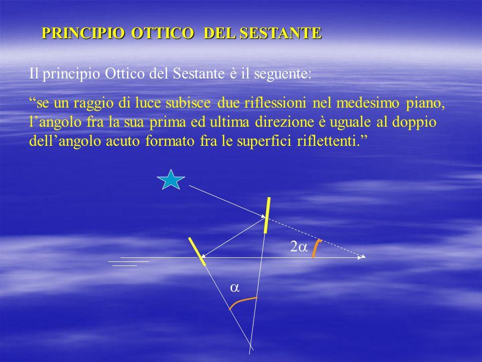 IL SESTANTE MARINO Il Sestante Marino è uno strumento portatile col quale è possibile misurare le altezze degli astri. Quindi è uno strumento che misu