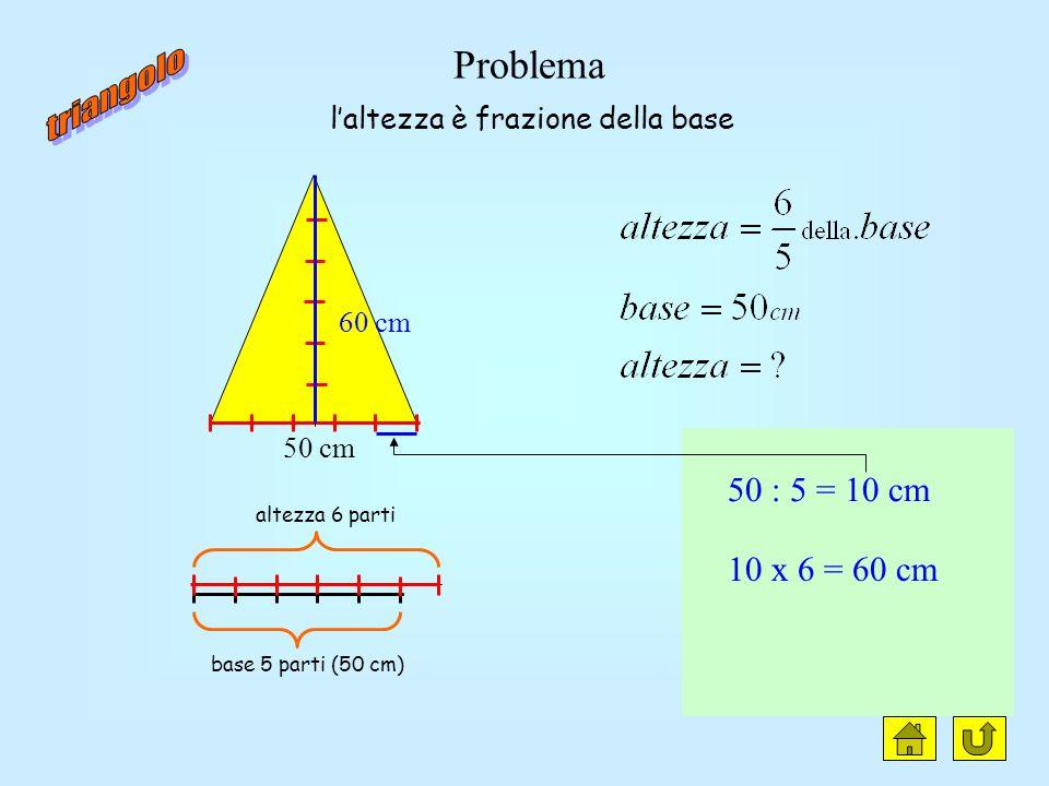 Laltezza è una frazione della base nota Il lato è una frazione della base nota (triangolo isoscele) Il lato è una frazione della base noto il perimetr