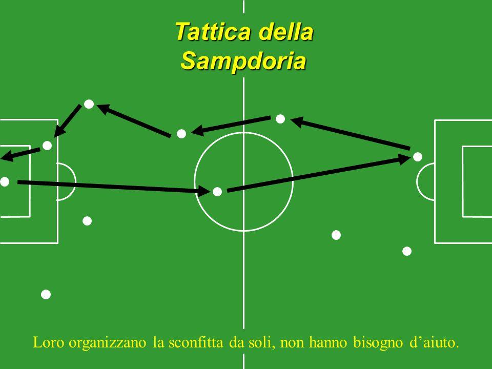 Tattica della Sampdoria Loro organizzano la sconfitta da soli, non hanno bisogno daiuto.