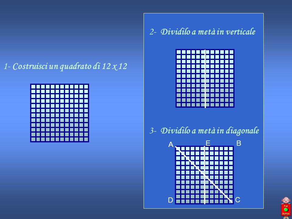 5- Congiungi il punto E con il punto C A B D C E F 6- Dividi a metà il segmento AF e traccia una linea fino al punto D A B D C E F G 7- Dividi in tre parti il segmento FD e traccia due linee fino alla metà del segmento DG AB D C E F G 4- Congiungi il punto E con il punto D A B DC E F