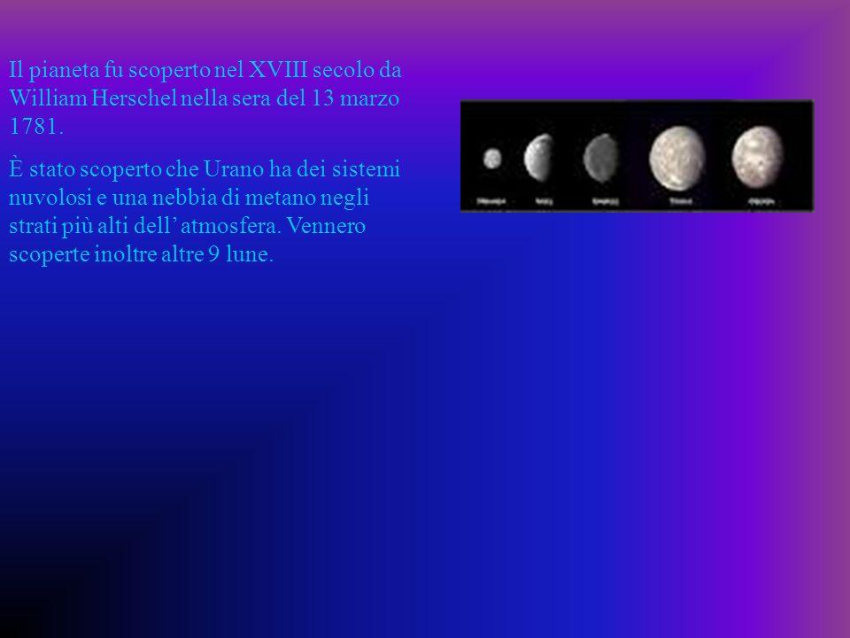 Il pianeta fu scoperto nel XVIII secolo da William Herschel nella sera del 13 marzo 1781. È stato scoperto che Urano ha dei sistemi nuvolosi e una neb
