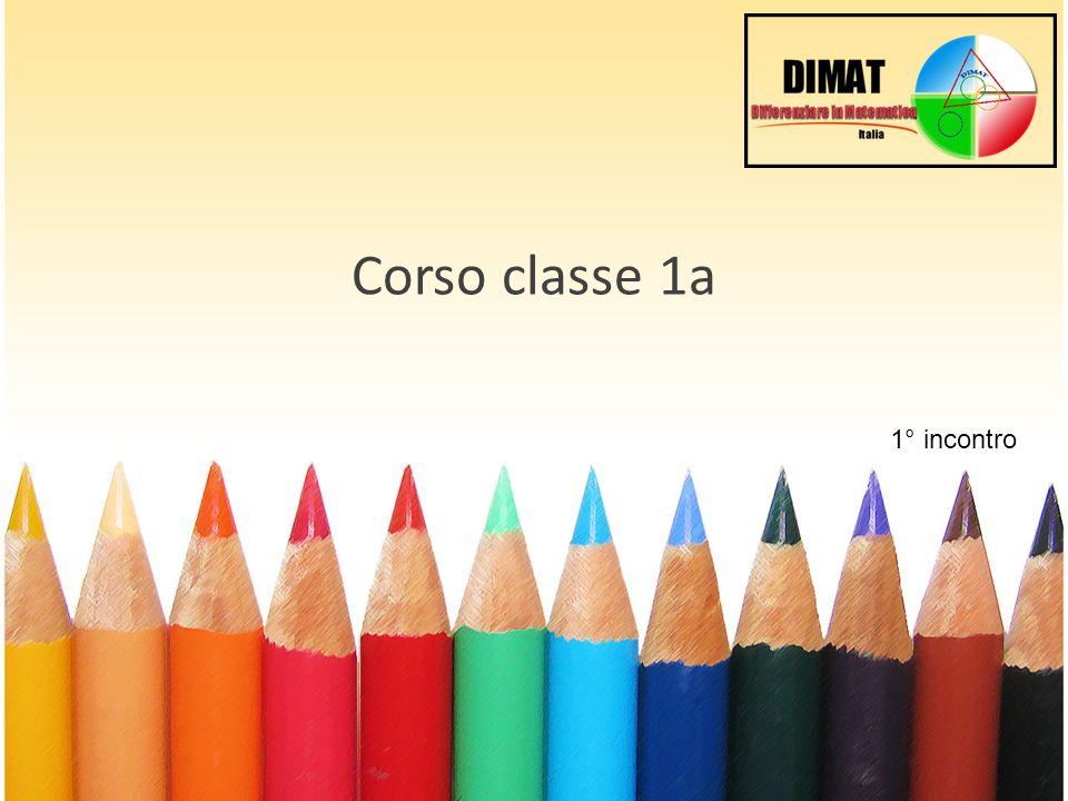 Corso classe 1a 1° incontro