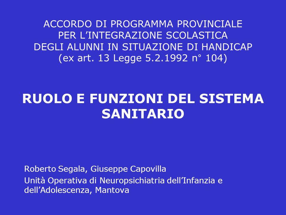 ACCORDO DI PROGRAMMA PROVINCIALE PER LINTEGRAZIONE SCOLASTICA DEGLI ALUNNI IN SITUAZIONE DI HANDICAP (ex art.