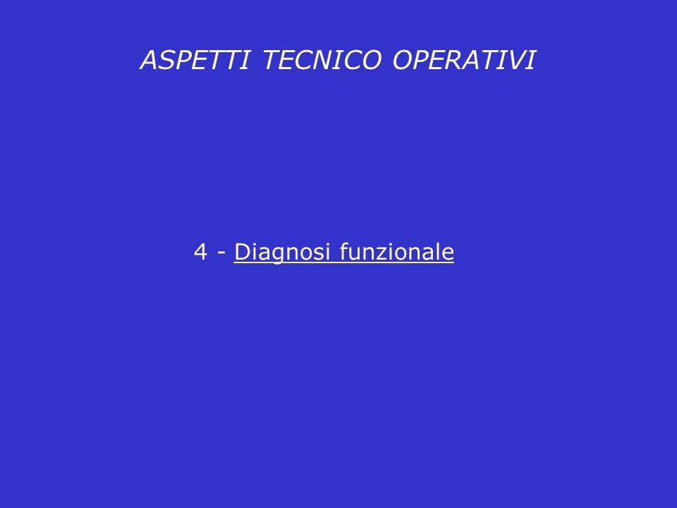 ASPETTI TECNICO OPERATIVI 4 - Diagnosi funzionale