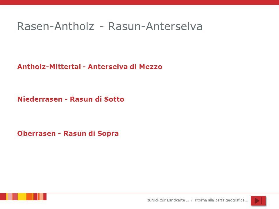 zurück zur Landkarte … / ritorna alla carta geografica … Rasen-Antholz - Rasun-Anterselva Antholz-Mittertal - Anterselva di Mezzo Niederrasen - Rasun