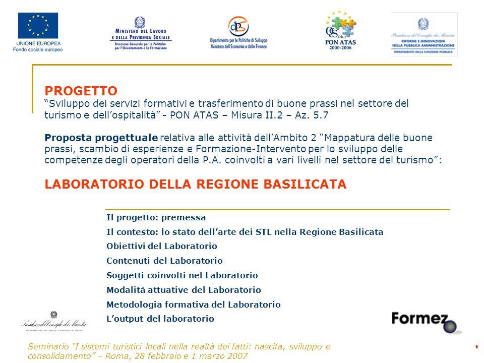 Seminario I sistemi turistici locali nella realtà dei fatti: nascita, sviluppo e consolidamento – Roma, 28 febbraio e 1 marzo 2007 12 Larticolazione del programma Il programma dei cinque incontri