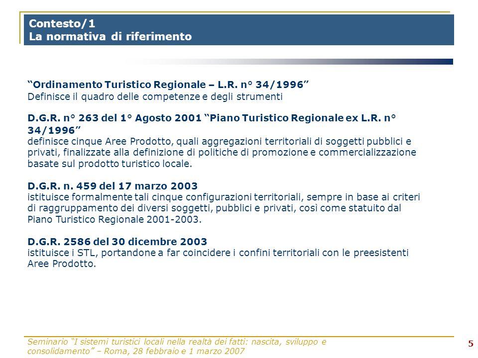 Seminario I sistemi turistici locali nella realtà dei fatti: nascita, sviluppo e consolidamento – Roma, 28 febbraio e 1 marzo 2007 16 Modalità di attuazione del laboratorio/2: 3° giornata MATT.: h.
