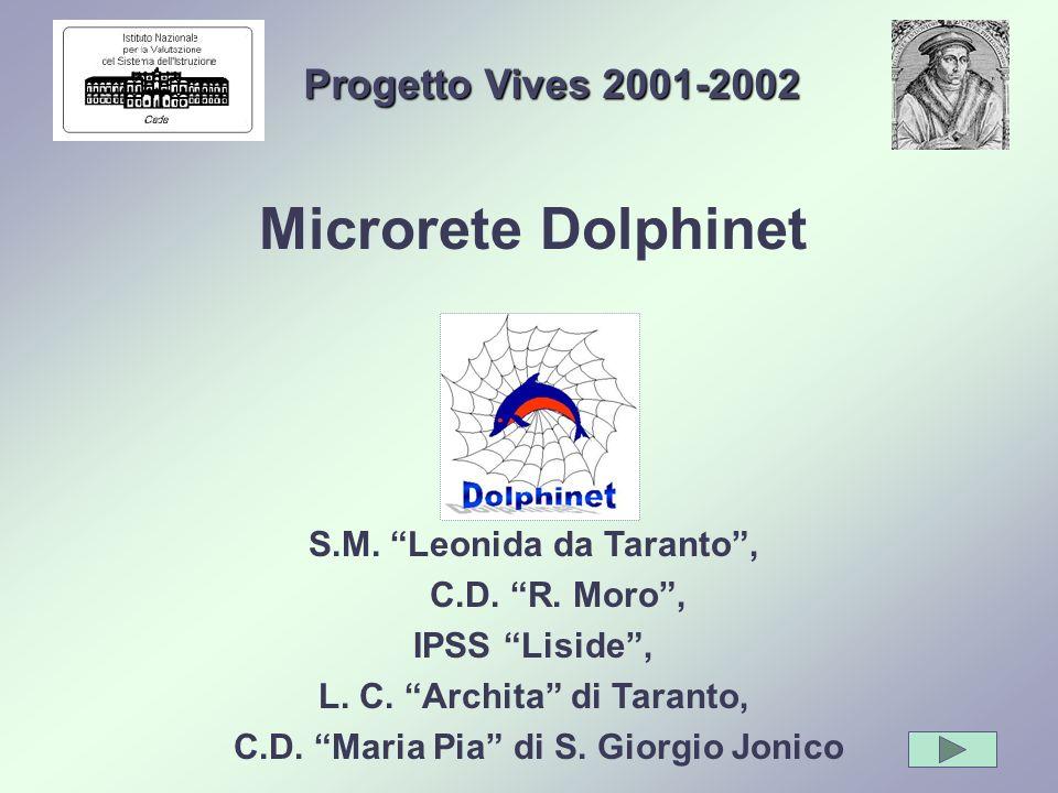 Progetto Vives 2001-2002 Microrete Dolphinet S.M. Leonida da Taranto, C.D. R. Moro, IPSS Liside, L. C. Archita di Taranto, C.D. Maria Pia di S. Giorgi