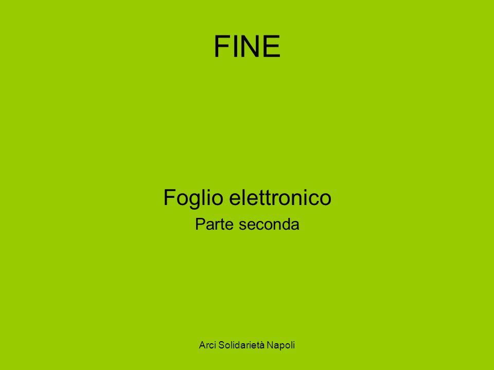 Arci Solidarietà Napoli FINE Foglio elettronico Parte seconda