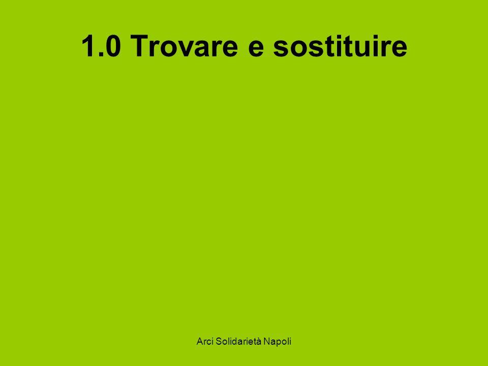 Arci Solidarietà Napoli 2.1 Inserire righe e colonne Per inserire nuove righe, scegliete la voce Righe dal menu Inserisci.