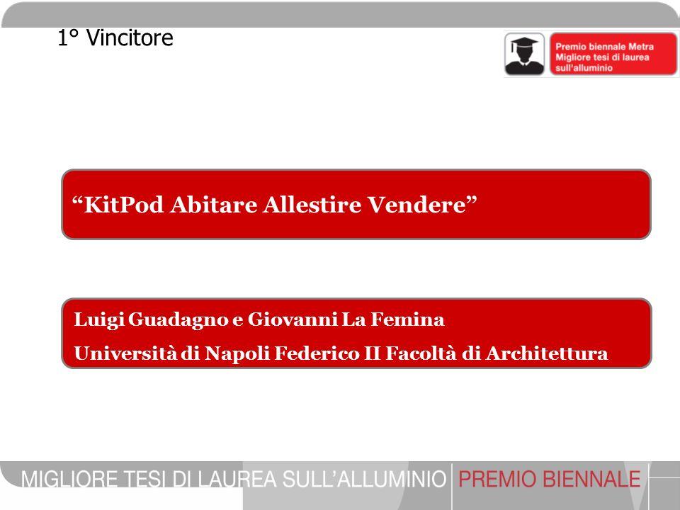 KitPod Abitare Allestire Vendere Luigi Guadagno e Giovanni La Femina Università di Napoli Federico II Facoltà di Architettura 1° Vincitore