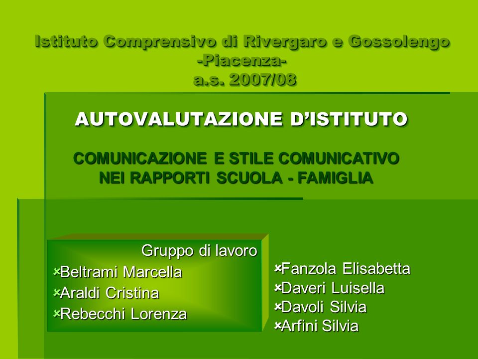Istituto Comprensivo di Rivergaro e Gossolengo -Piacenza- a.s.