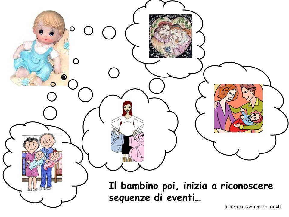 Il bambino poi, inizia a riconoscere sequenze di eventi… [click everywhere for next]