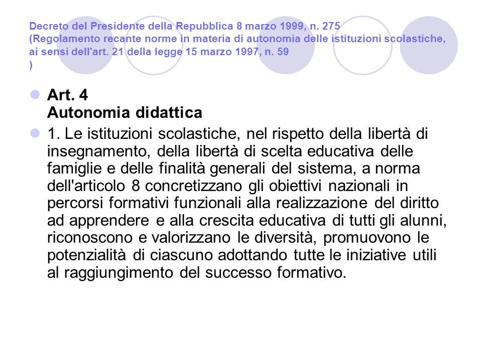 Decreto del Presidente della Repubblica 8 marzo 1999, n.