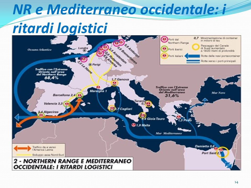 NR e Mediterraneo occidentale: i ritardi logistici 14