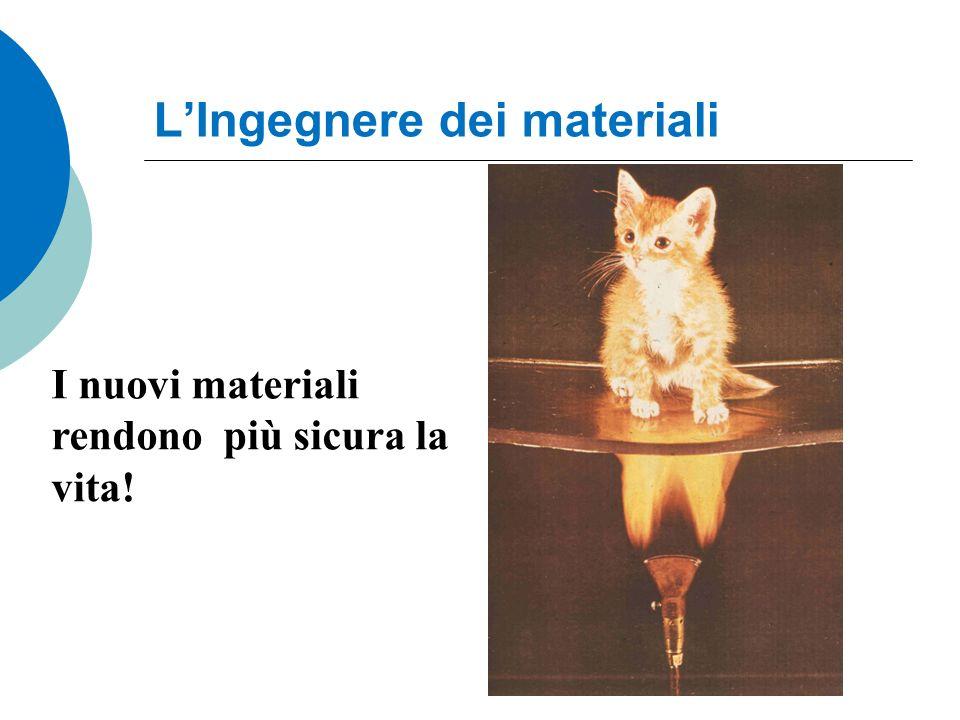 LIngegnere dei materiali I nuovi materiali rendono più sicura la vita!