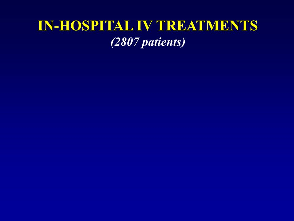 IN-HOSPITAL IV TREATMENTS (2807 patients)
