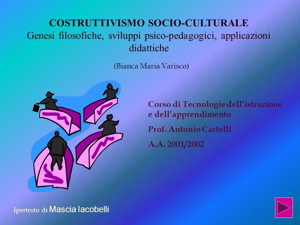 Progetti didattici del costruttivismo sociale Il modello di progettazione didattica proposto dal costruttivismo è centrato sugli allievi, sui loro bisogni e sulle loro risorse.