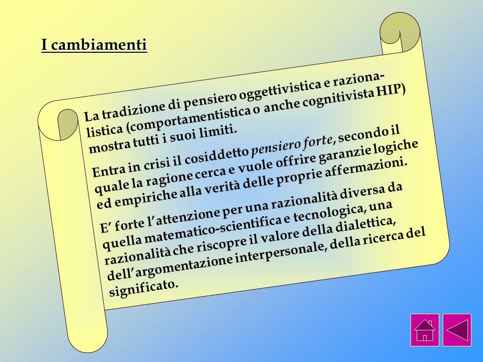 Ambienti di apprendimento costruttivistici: alcuni esempi emblematici Ambienti di apprendimento ancorato e generativo (CTGV coordinato da J.