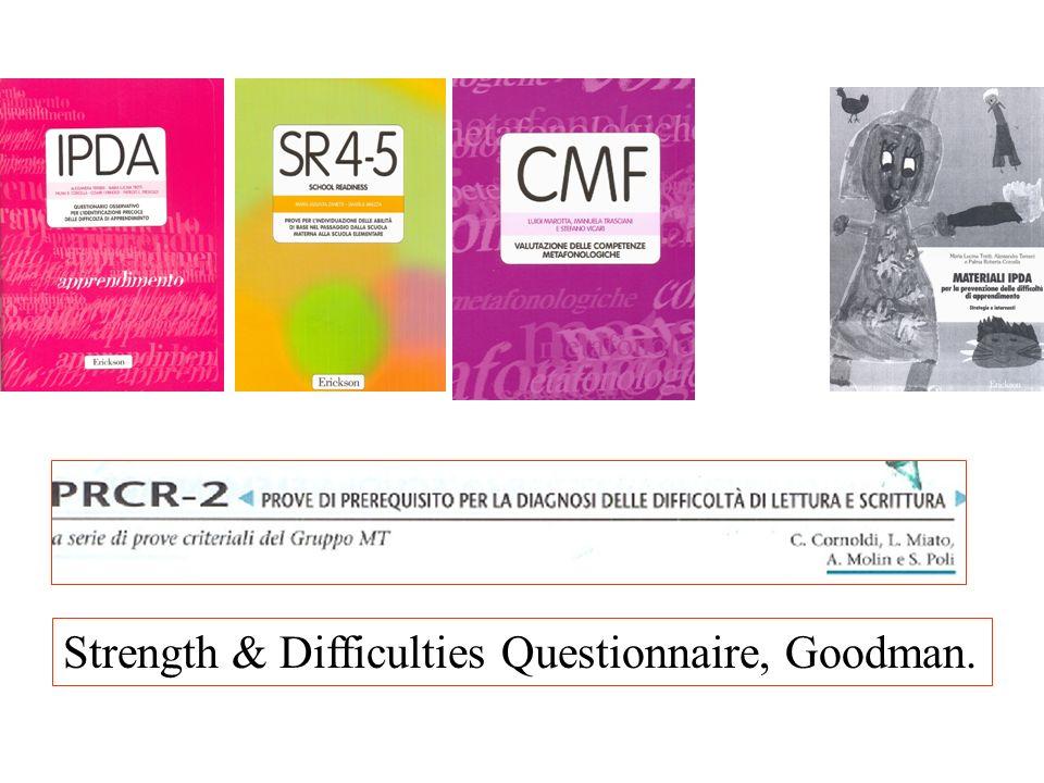 Strength & Difficulties Questionnaire, Goodman.