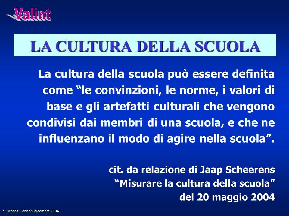 La cultura della scuola può essere definita come le convinzioni, le norme, i valori di base e gli artefatti culturali che vengono condivisi dai membri