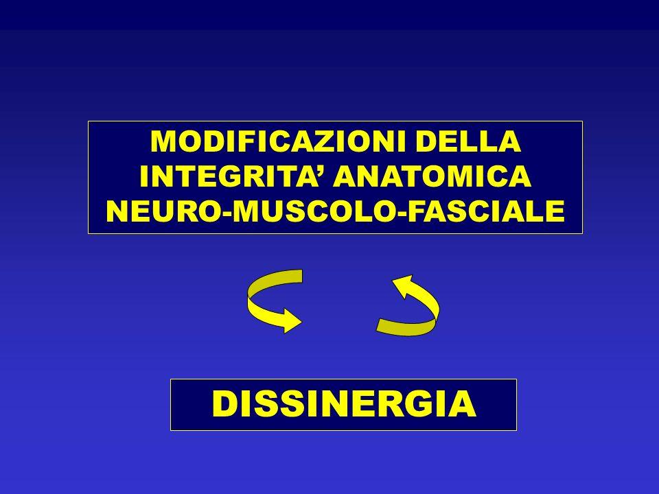 MODIFICAZIONI DELLA INTEGRITA ANATOMICA NEURO-MUSCOLO-FASCIALE DISSINERGIA