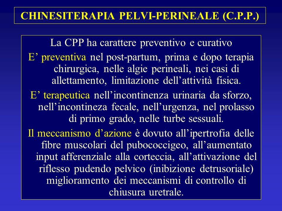 CHINESITERAPIA PELVI-PERINEALE (C.P.P.) La CPP ha carattere preventivo e curativo E preventiva nel post-partum, prima e dopo terapia chirurgica, nelle