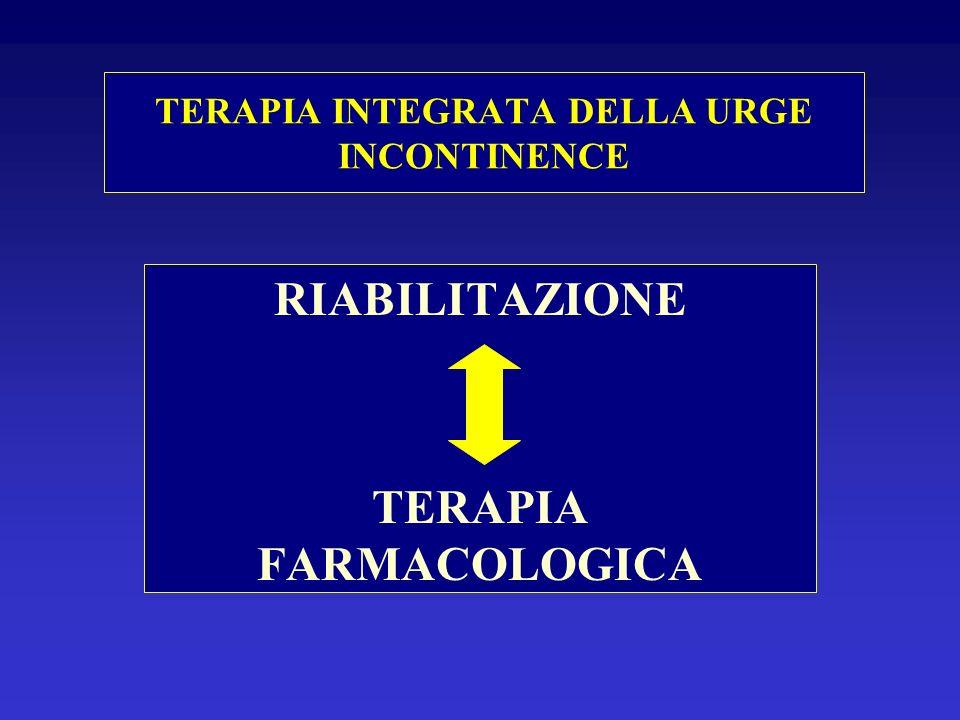 TERAPIA INTEGRATA DELLA URGE INCONTINENCE RIABILITAZIONE TERAPIA FARMACOLOGICA
