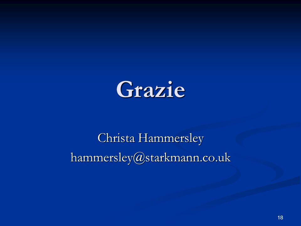 18 Grazie Christa Hammersley hammersley@starkmann.co.uk