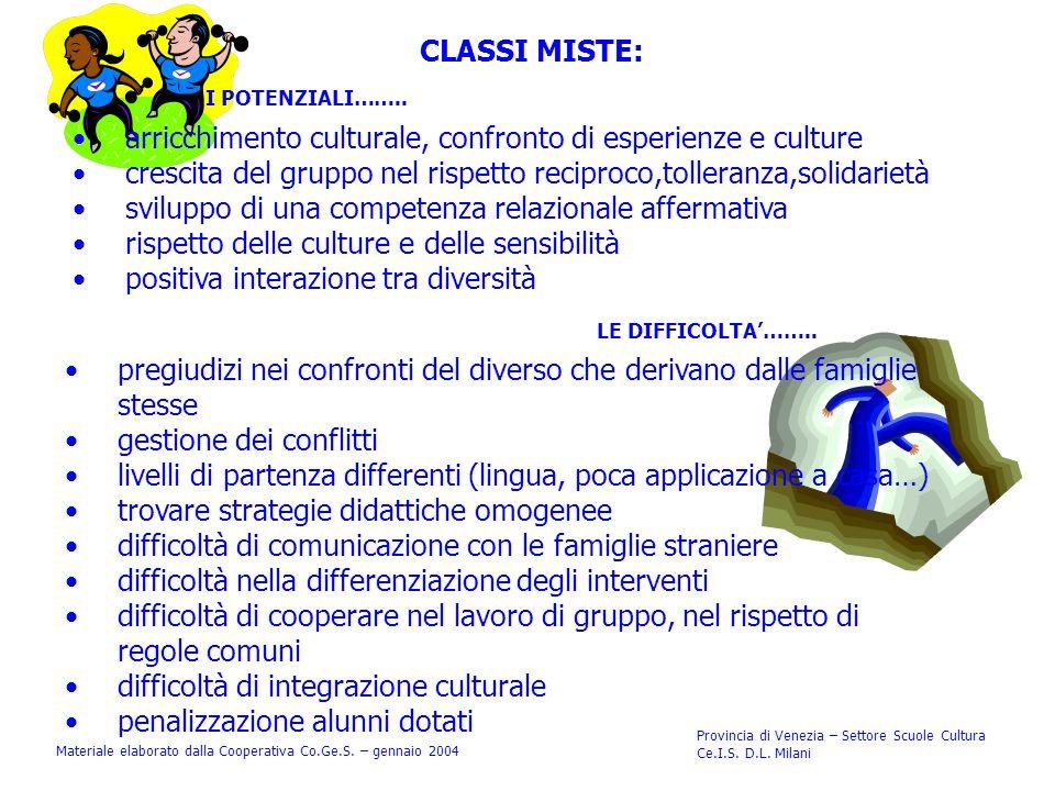 CLASSI MISTE: I POTENZIALI…….. LE DIFFICOLTA……..
