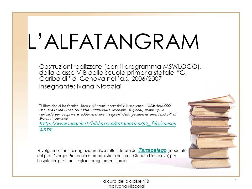 a cura della classe V B Ins: Ivana Niccolai 1 LALFATANGRAM Costruzioni realizzate (con il programma MSWLOGO), dalla classe V B della scuola primaria s