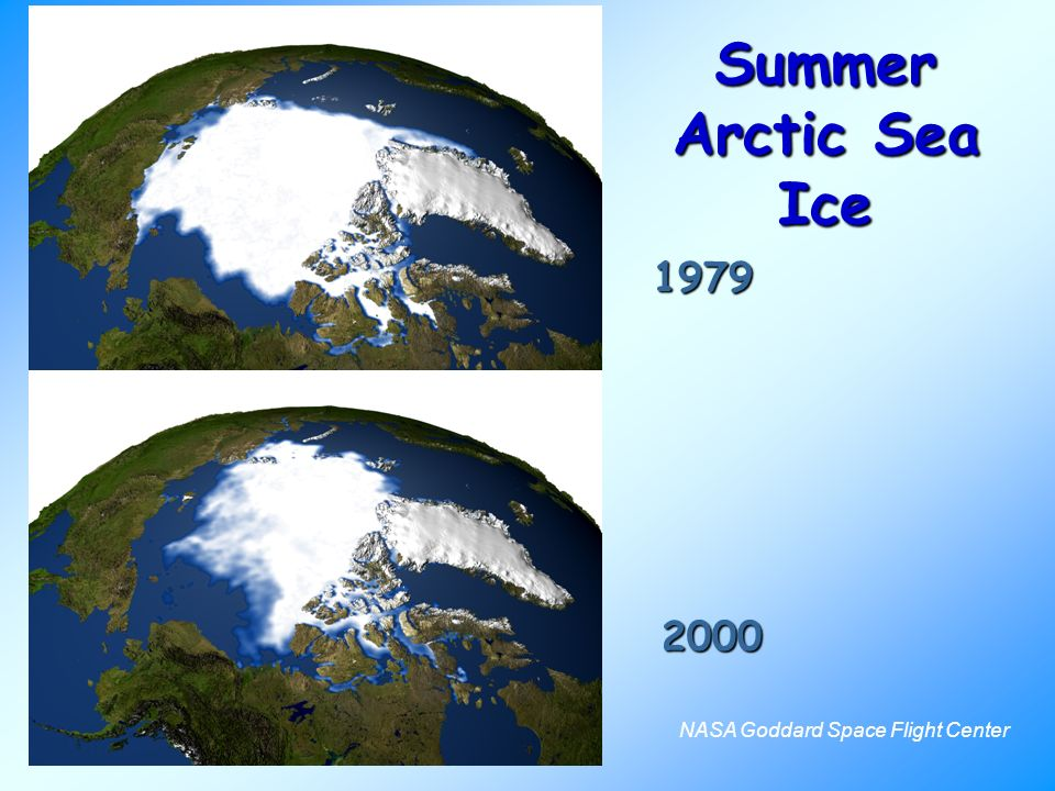 1979 2000 NASA Goddard Space Flight Center Summer Arctic Sea Ice