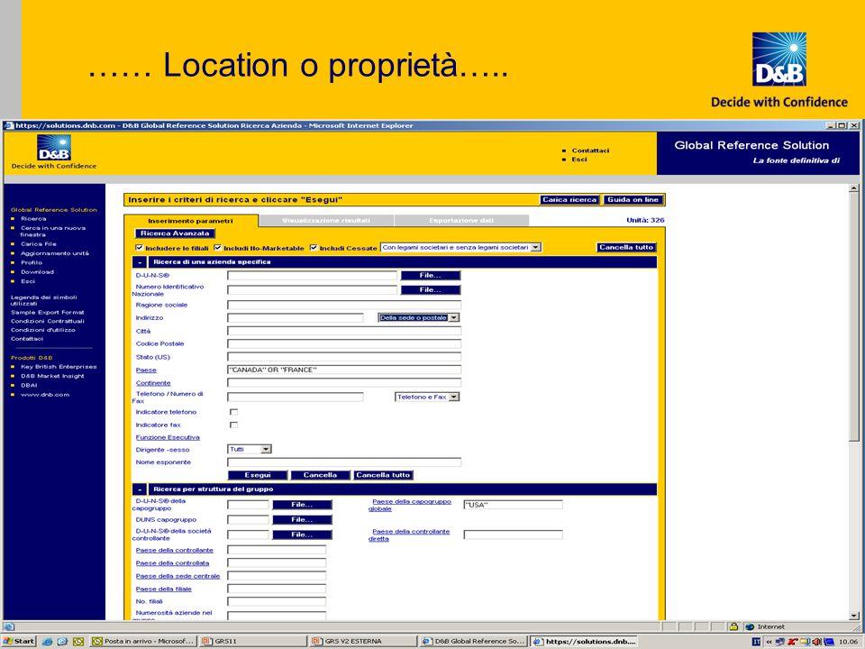 Copyright Dun & Bradstreet S.p.a., 2006 ….. Responsabile di Funzione che si desidera contattare