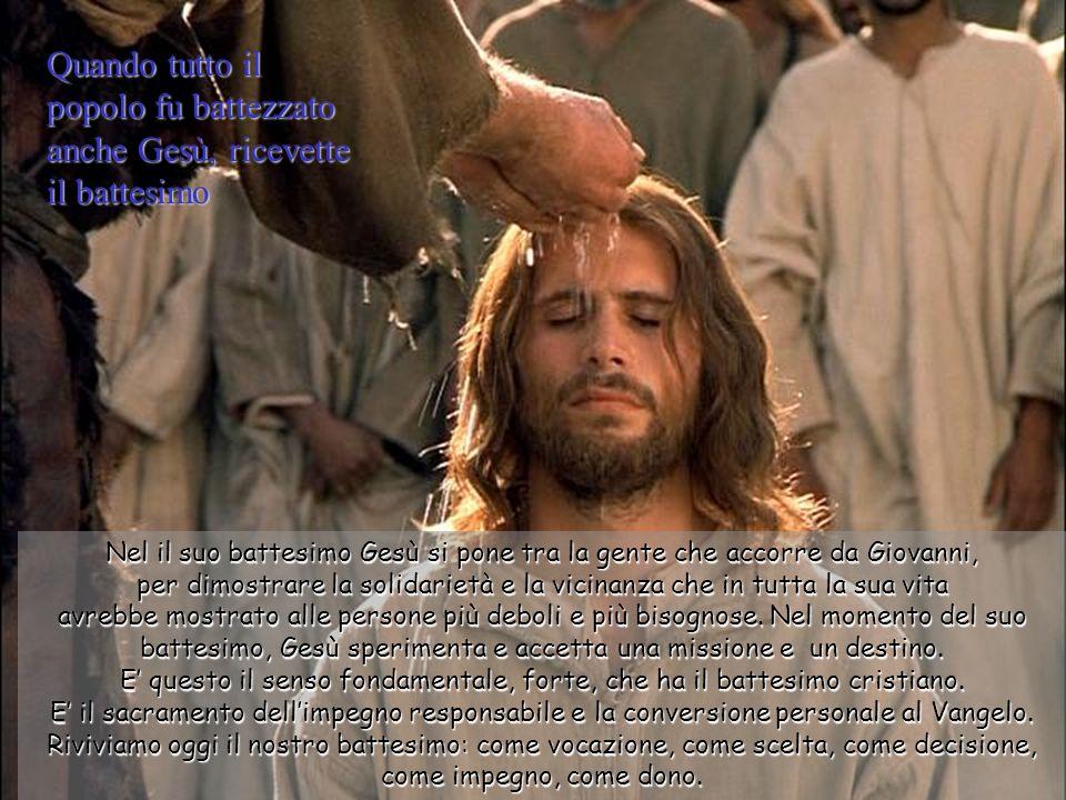 Il carismatico e marginale Giovanni sa che il suo battesimo di acqua, simbolo di purificazione e di penitenza, è insignificante se paragonato con il B